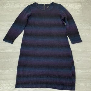 Apt 9 womens long sleeve sweater dress size L